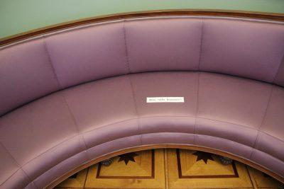 Sofa im Hamburger Museum für Kunst und Gewerbe